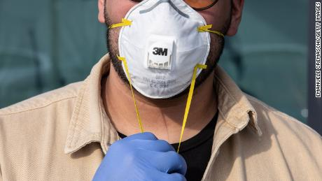 Respirator masks are in short supply at some American hospitals.