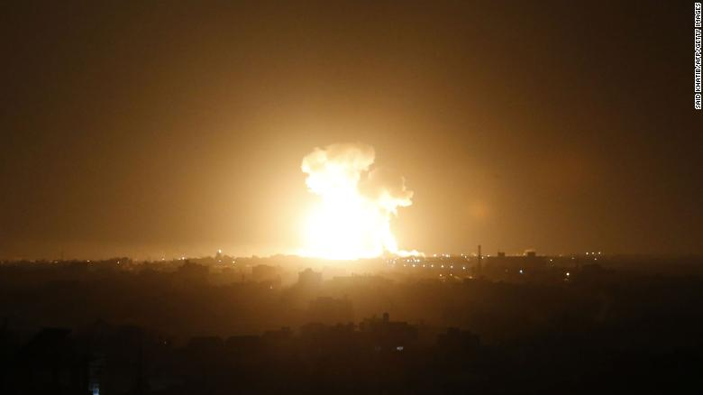 Israel said it launched a series of strikes on Islamic Jihad targets, and Palestinian militants fired more than 20 rockets at Israel by early Sunday evening, according to the Israeli army.