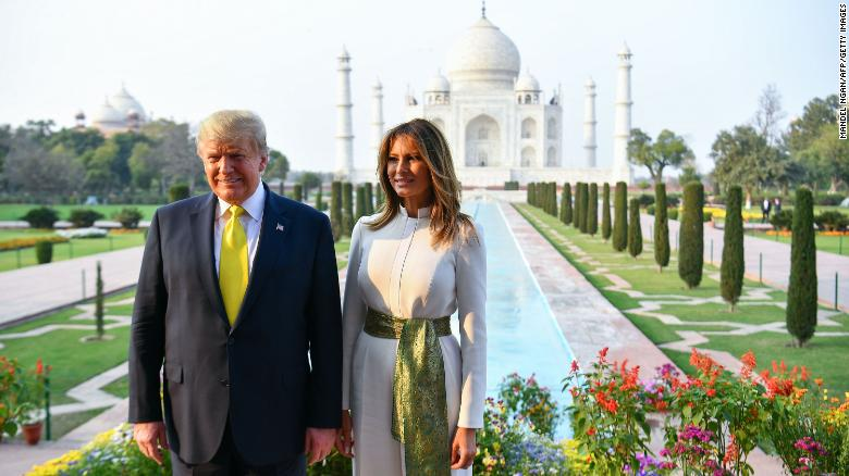 Trump Lands in India 2