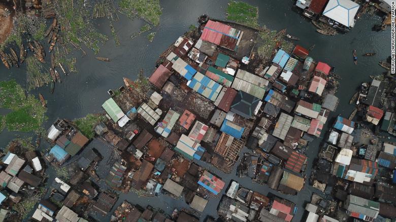A drone image of Makoko: Photo: Uhurulabs/africanDRONE/CfAfrica