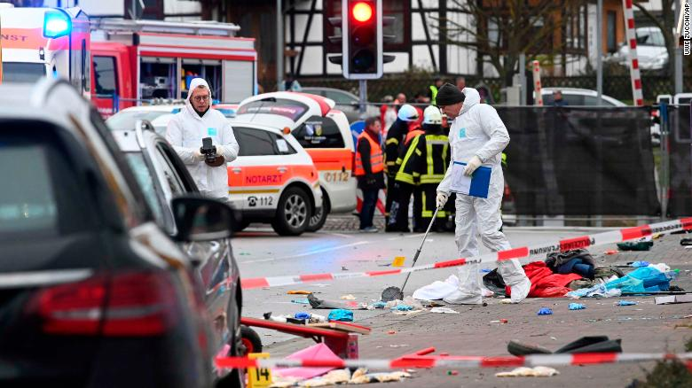 Germany carnival vehicle terrorism February 2020