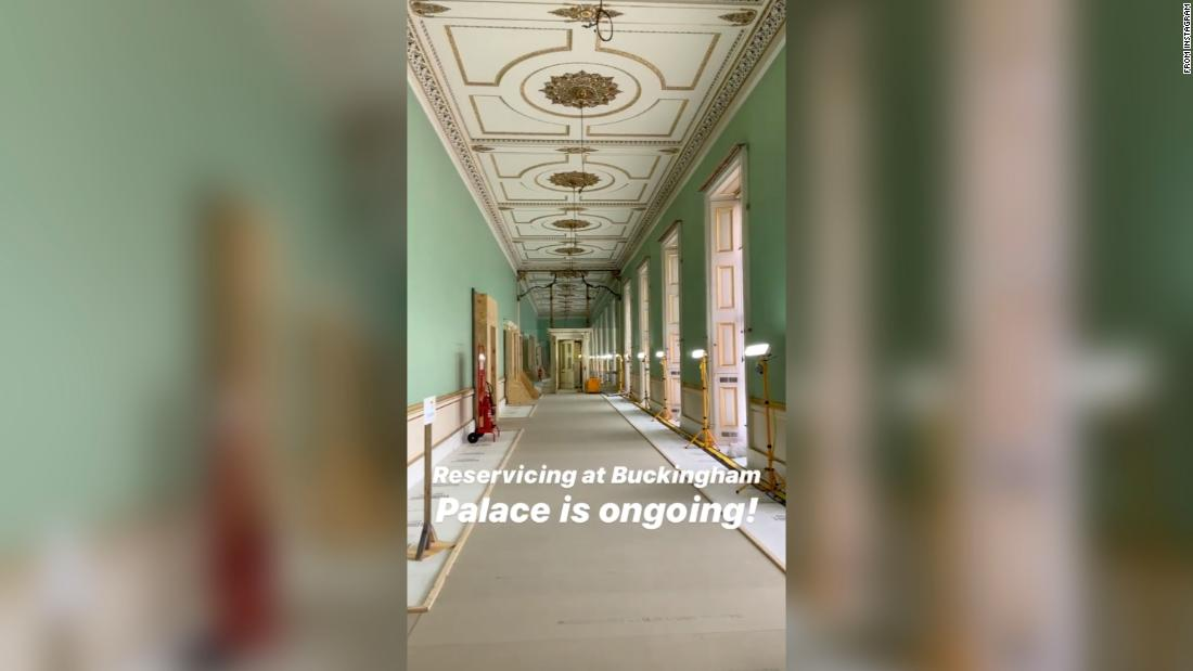British royals offer a look inside Buckingham Palace's renovations, as the Queen's home gets a facelift