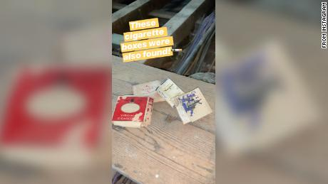 A number of cigarette packets were also discovered.