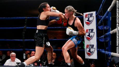 Harris (R) fights againt Janay Harding on November 22, 2019.