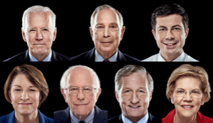 Democratic rivals go after frontrunner Sanders in chaotic debate