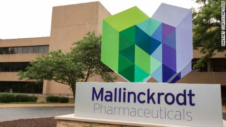 The exterior of the Mallinckrodt Pharmaceuticals office in St. Louis.