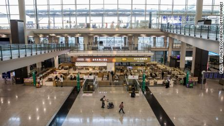 The Hong Kong International Airport is largely empty these days. IATA estimates the hit to global airlines could top $29 billion.