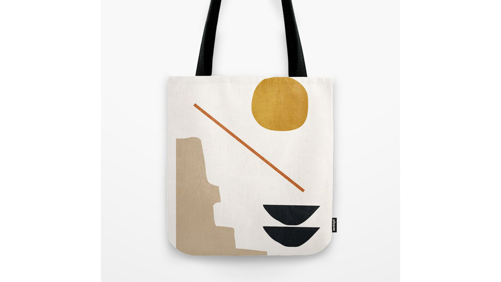 Large Abstract Face Reusuable Tote Bag