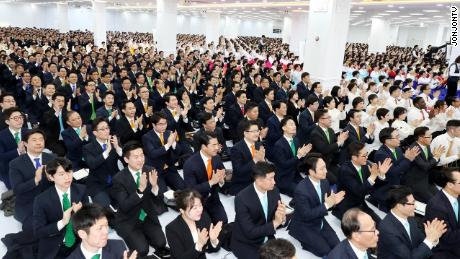Shincheonji's Annual General Assembly in Gwacheon, South Korea, on January 12, 2020.