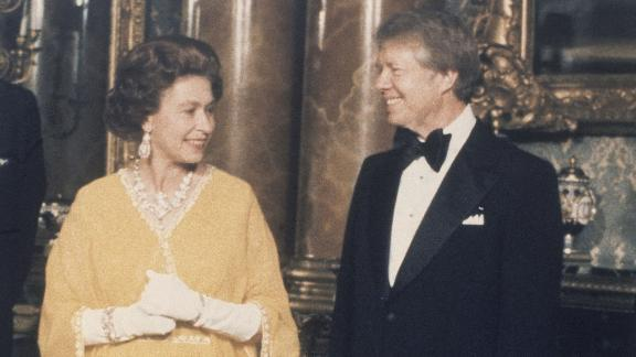 "Jimmy Carter: During a 1977 dinner at Buckingham Palace, Carter described the home of the British monarch as ""one of the most beautiful places I"