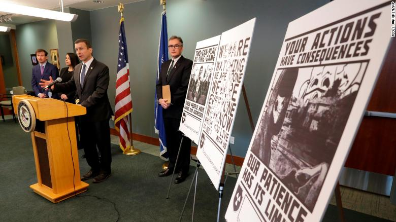 Raymond Duda, FBI Special Agent in Charge in Seattle, speaks about charges against a group of alleged members of the neo-Nazi group Atomwaffen Division.