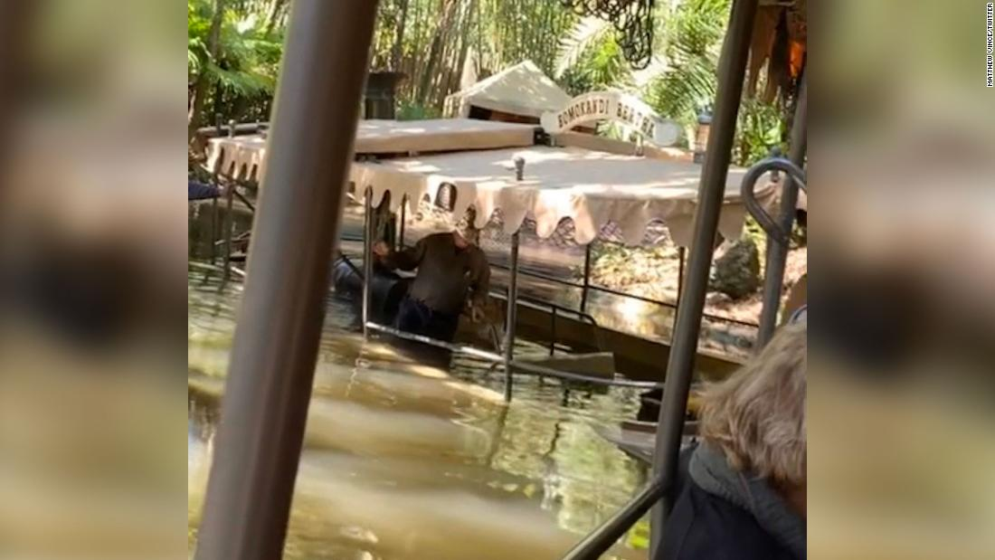 Jungle Cruise boat at Disney World takes on water with passengers on board