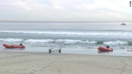 Emergency crews responded to calls of people yelling in the water early Friday morning.