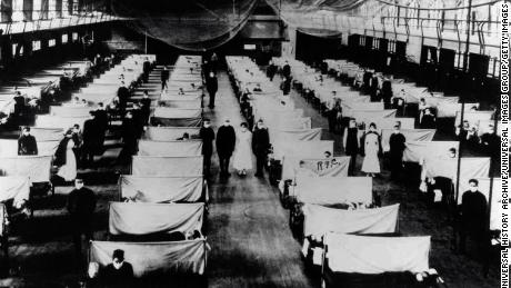 During the 1918 influenza pandemic, warehouses like this one were converted to keep infected people quarantined.