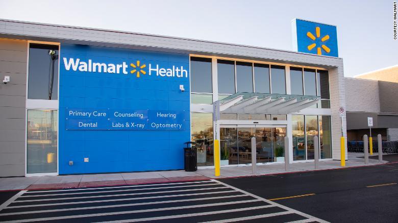 The entrance to Walmart's health center in Calhoun, Georgia.