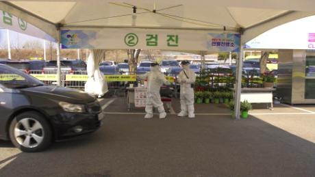 South Korea pioneers coronavirus drive-through testing station