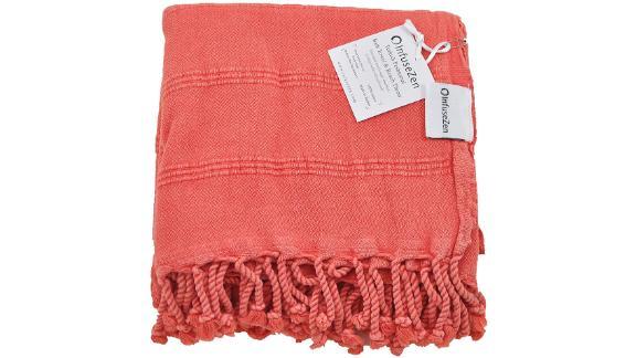 InfuseZen Stone Washed Turkish Towel