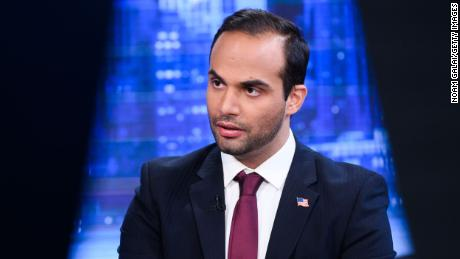"""George Papadopoulos visits """"The Story With Martha MacCallum"""" at Fox News Studios on March 26, 2019 in New York City."""