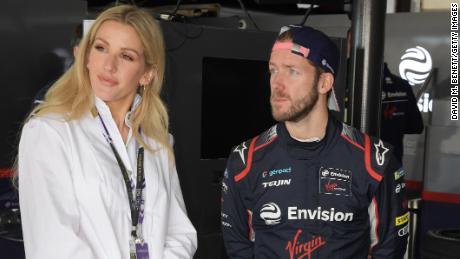 Goulding cu Sam Bird, șoferul lui Envision Virgin Racing din Marrakech.