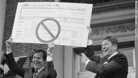 The 1980s were a good time for the US stock market, as investors welcomed tax cuts passed by President Ronald Reagan.