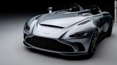 The Aston Martin V12 Speedster is powered by a turbocharged V12 engine.