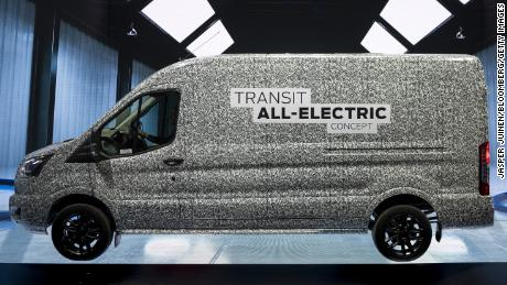 Ford to sell all-electric Transit cargo vans in the US
