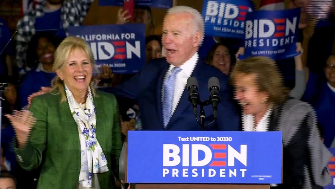 Joe Biden mixes up wife and sister in Super Tuesday speech thumbnail