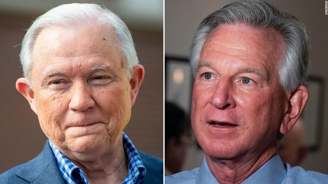 Alabama GOP Senat primäre, geht der Abfluss bei den Sitzungen und ex-Auburn-football-Trainer