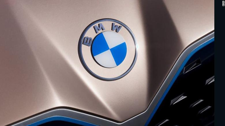 BMW's new logo made its debut on the Concept i4 vehicle.
