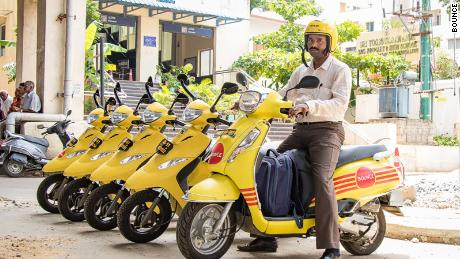 Bangalore's scooter rental start-up Bounce is booming, recently valued at $500 million.