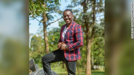 Artistul kenian Collins Omondi Okello
