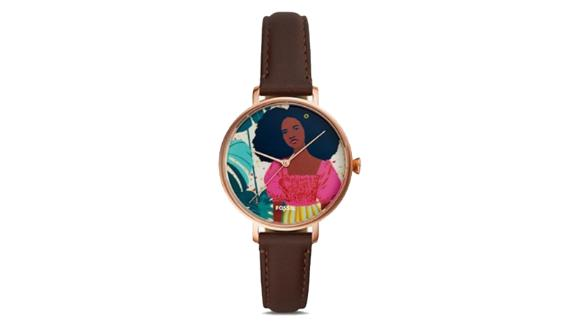 Fossil Limited Edition Curator Series Kalya Three-Hand Brown Leather Watch