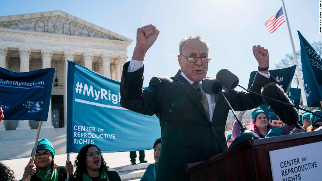 Chuck Schumer condemned after abortion comments thumbnail
