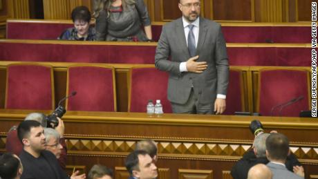 Denys Shmygal pictured after being approved as Ukraine's new Prime Minister during an extraordinary session of the parliament in Kiev on March 4, 2020.