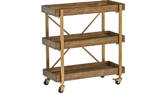 Rivet 3-Tiered Bar Cart