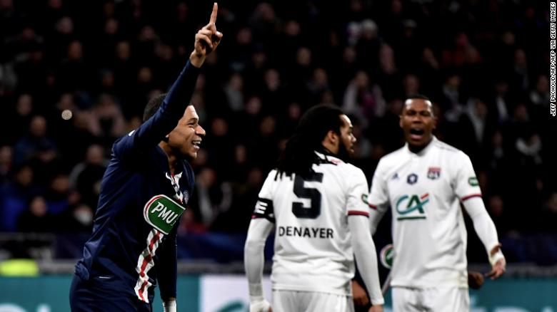 Mbappe hat trick last night echoed his first career hat trick in 2018, which was also against Lyon.
