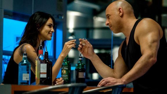 Eiza Gonzalez and Vin Diesel) in 'Bloodshot.'
