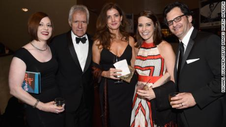 Alex Trebek backstage Gala awarded the 2015 AFI Life Achievement Award with his wife Jean (middle) and friends from Turner Classic Movies.