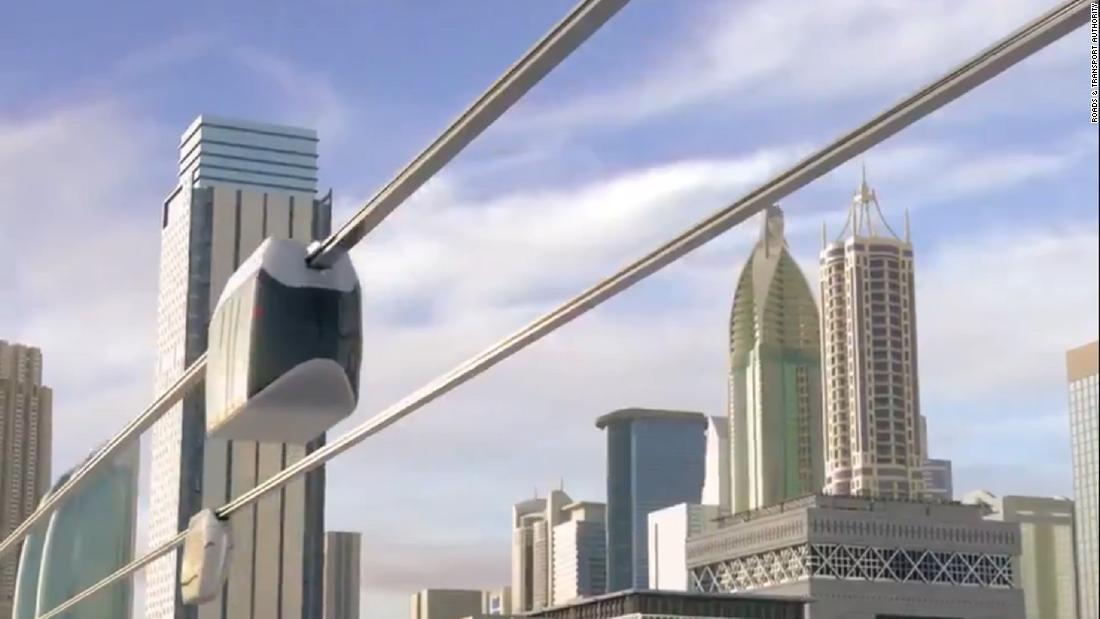 Dubai enthüllt Pläne für Elektro-sky pod network