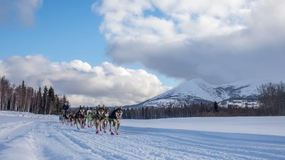 The Iditarod: This famous dogsled race is named after the Iditarod Trail, an old mail and supply route traveled by dogsleds from Seward and Knik to Nome, Alaska.