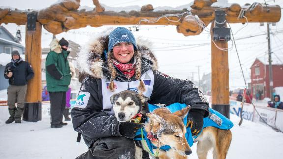 """End of the line: The town of Nome is the end of the trail, where the famous Iditarod """"burled arch"""" forms the finish line."""