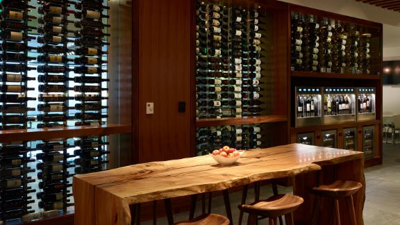 The Amex Centurion Lounge in San Francisco features a wine tasting area.