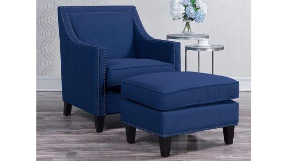 Wayfair Three Posts Rotterdam Armchair and Ottoman
