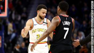 Steph Curry and Toronto Raptors' Kyle Lowry met in the 2019 NBA Finals, which the Raptors won too.