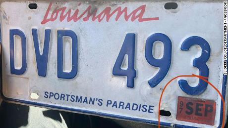 A Slidell Police Department officer pulled over a man for an expired license plate from 1997.