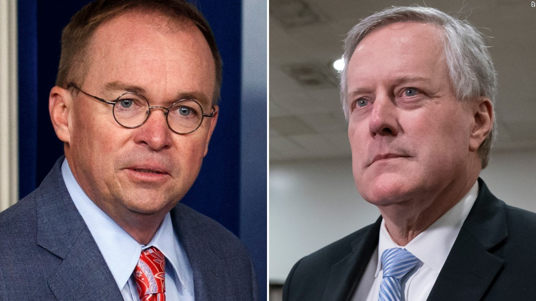 Trump Ousts Mick Mulvaney as White House Chief of Staff, Names Mark Meadows as Replacement