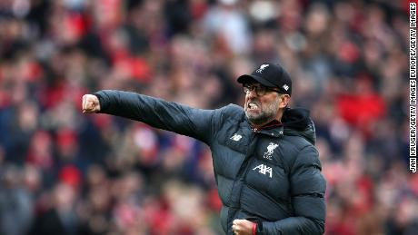 Liverpool needed three more wins to win the English Premier League before English football was suspended.