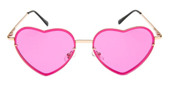 Rad + Refined Tinted Heart Shaped Sunglasses