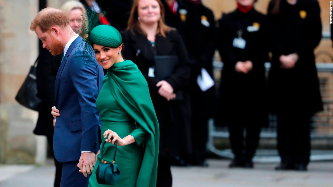Watch Harry and Meghan at final royal event