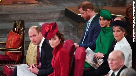 Harry and Meghan made their final appearance as senior royals at last year's Commonwealth Day service at Westminster Abbey.
